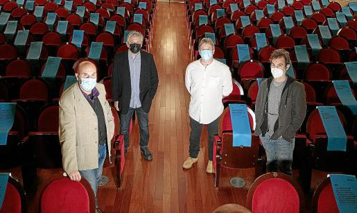 Miquel Àngel Aguiló, Andrés López, Paco Seguí y Pedro Oliver, ayer en el Teatre Principal.