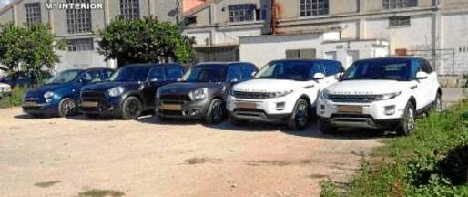 Imagen de los vehículos que habían sutraídos en Italia y que posteriormente fueron vendidos por los imputados en Palma.
