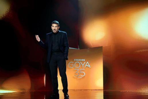 El actor Antonio Banderas en la gala de la 35 edición de los Premios Goya.