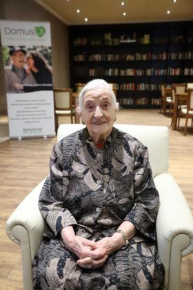 Maria Rosa Masobé, en la residencia DomusVI Palma.