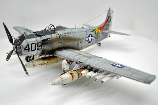 Avión Skyraider de la Guerra de Vietnam, de Joan Tarragó.