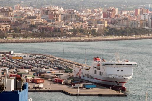 Vista del puerto de Palma.
