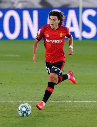 Luka Romero, durante un partido con el Real Mallorca.