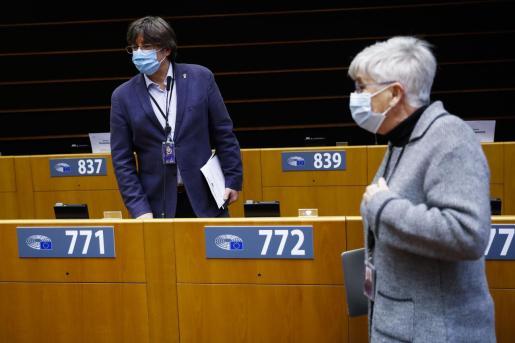 Carles Puigdemont, este lunes en Bruselas.