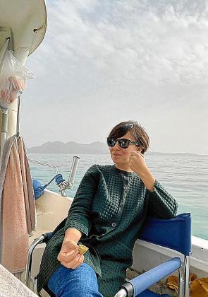 Aina Morano en un momento de relax.