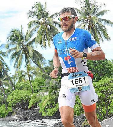 Xamena, en el Campeonato del Mundo de Ironman en Hawaii.