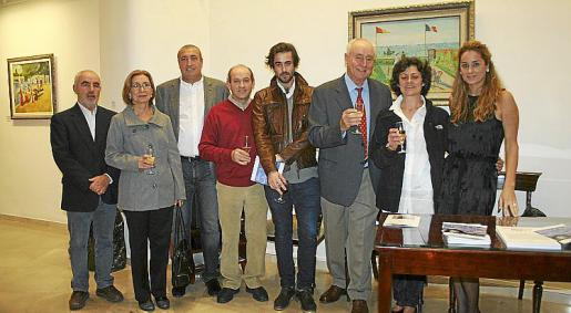 Inauguración de la exposición de Elmyr D'Hory en Palma.
