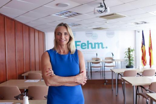 La presidenta de la FEHM, María Frontera.