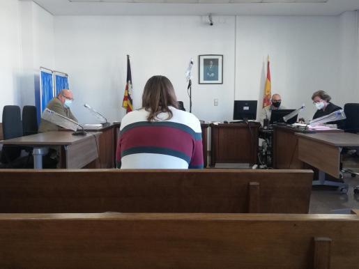 El acusado, este viernes, en una sala de lo Penal de Palma.