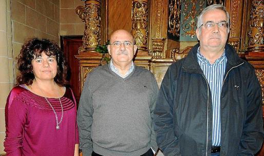 Carme Lorente, Lluís Maicas y Damià Pons momentos antes de comenzar la presentación del libro.