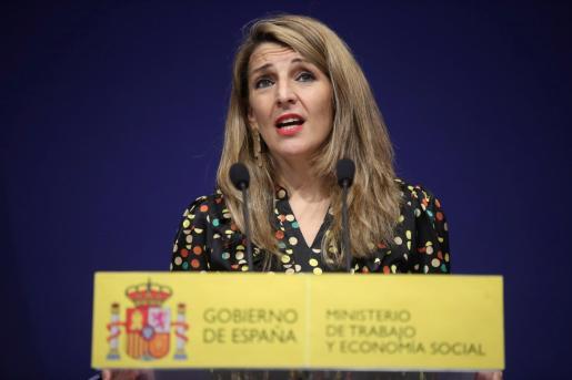 La ministra de Trabajo y Economía Social, Yolanda Díaz, estará al frente de Podemos y de la vicepresidencia segunda del Gobierno al presentar Iglesias su candidatura por Madrid.