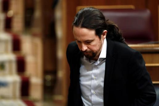 Pablo Iglesias, en una imagen tomada en el Congreso.