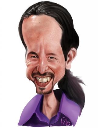 Caricatura de Pablo Iglesias.