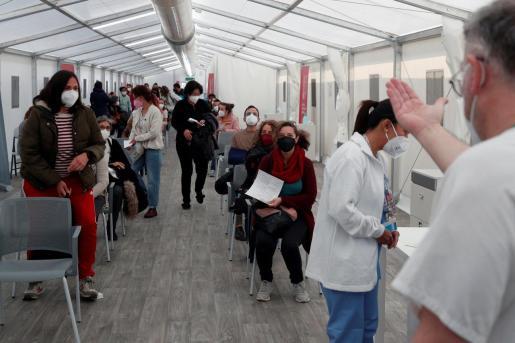 Centro de vacunación en Valencia.