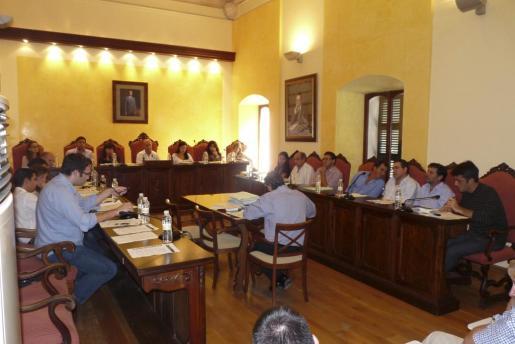 Imagen de uno de los plenos del Ajuntament de Manacor celebrados el pasado mes de octubre.