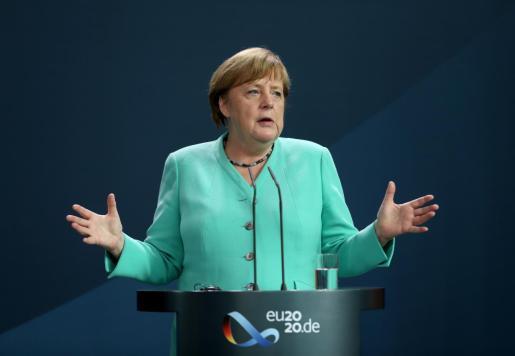 Las autoridades de Alemania han confirmado este martes cerca de 5.500 casos y más de 230 muertos por coronavirus durante el último día. En la imagen, la canciller alemana.