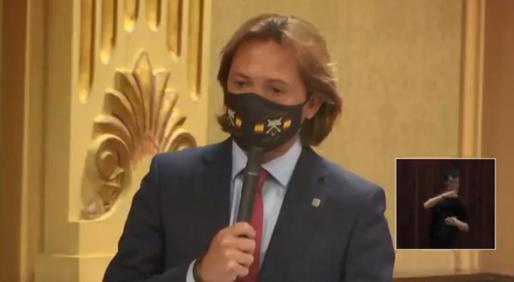 El líder de Vox, en su intervención en el Parlament.