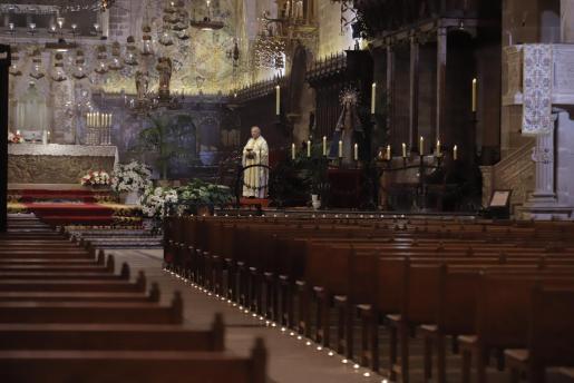 Este año se han cancelado las procesiones en el exterior, pero se mantienen los actos litúrgicos en el interior del templo, que el año pasado se hicieron sin asistencia de público.