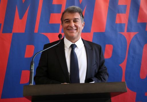 Imagen de Joan Laporta durante la campaña electoral.