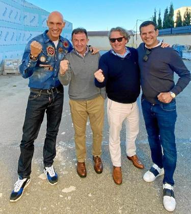 David Alayeto, Martín Berasategui, Pepe Luna y Chus Iglesias, el pasado lunes en los terrenos del antiguo Es Fogueró.