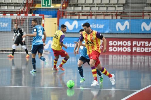 Un momento del partido entre el Movistar Inter y el Palma Futsal.