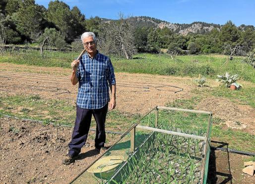 Toni Frau ante la parcela en la zona de Son Angelats que él también cultiva de forma personal.