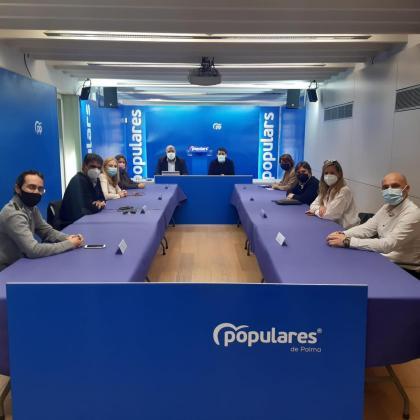 Jaime Martínez ha presidido esta tarde en la sede de los Populares la primera reunión de Coordinación Institucional.