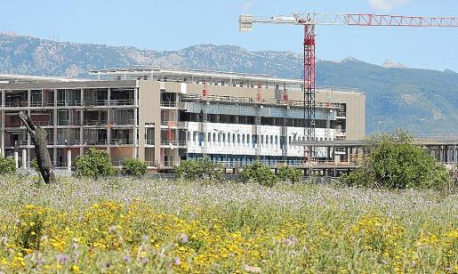 Imagen de archivo de cuando el hospital de Son Espases estaba en obras.
