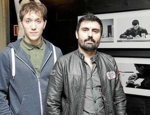 El actor Joan Carles Suau y el director Daniel Aguilarte, ayer en Palma.