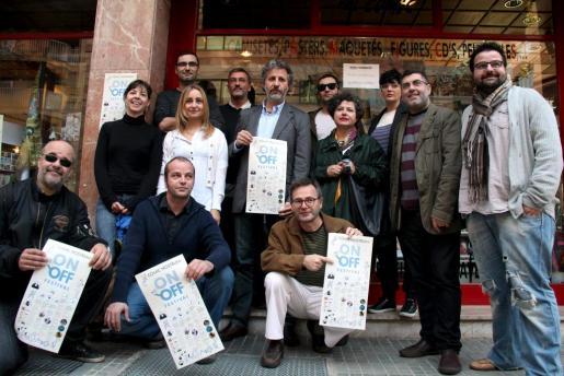 Algunos de los miembros del Clúster de Còmic i Nous Media, ayer en Palma.
