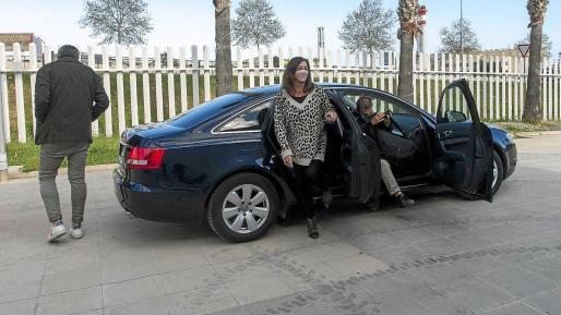 Francina Armengol, el pasado lunes tras el almuerzo celebrado en el Ayuntamiento de Ibiza.
