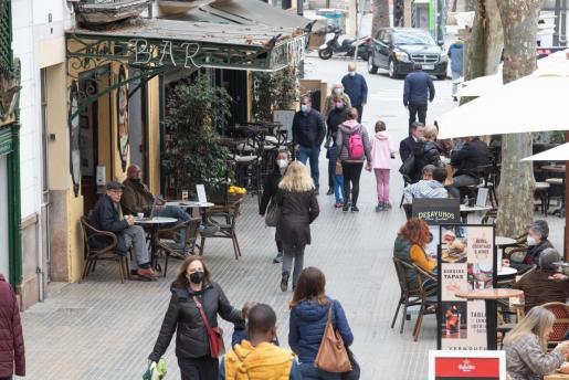 Las terrazas reabrieron el pasado 2 de marzo en Mallorca.