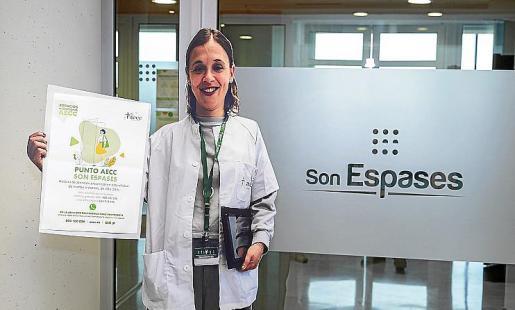 Blanca Merino, convertida en un tótem informativo contra el cáncer.