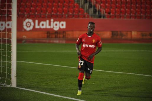 Imagen del delantero del Mallorca Amath Ndiaye.