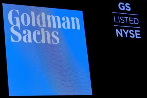 Símbolo de Goldman Sachs en una pantalla.