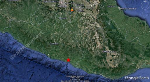 ⚠️#México🇲🇽: Un sismo moderado de magnitud Mww=5.7, se registró a 7 KM al N de #Marquelia, estado de #Guerrero. Pro… https://t.co/vlj0i9MCyc