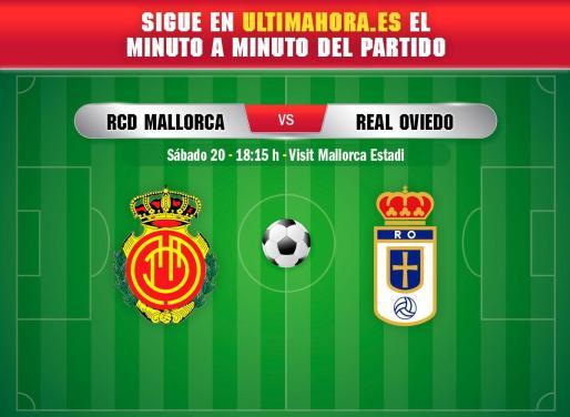 Real Mallorca y Oviedo se enfrentan este sábado en Son Moix.