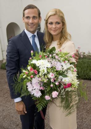 Magdalena de Suecia y su prometido, Jonas Bergstrom.