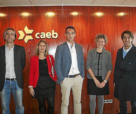 Vicenç Palmer, Isabel Garcías, Miquel Barceló, Carmen Francés y Alejandro Xamena.