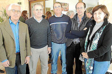Miquel Fullana, Jaume Orell, Miquel Àngel Calviño, Miquel Frau y Carme Rosselló.