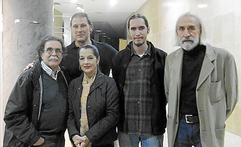 Tolo Albertí, Estefanía Carrera, Leonardo Viera, Blai Molina y Blas Molina.