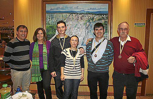 Guillem Pons, Ángels Tugores, Alfredo Calderón, Antonia Cuenca, Juan José Caballero y Diego Camuñas.
