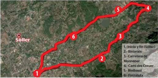 Los caminos de Monnàber, Es Creuer i Binibassí.