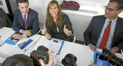 La líder del PPC, Alicia Sánchez-Camacho, al inicio del Comité Ejecutivo Nacional del partido.