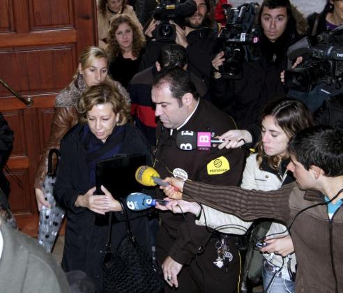 Maria Antònia Munar ha causado una gran expectación a su llegada a los juzgados.