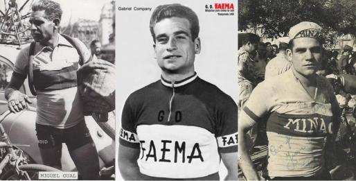 Imágenes de Miguel Gual (izq), Gabriel Company (centro) y Antoni Karmany (d).