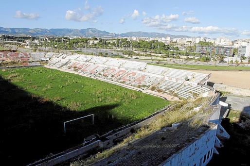 En la imagen se observa el Lluís Sitjar y los terrenos aledaños del antiguo campo del Mallorca.