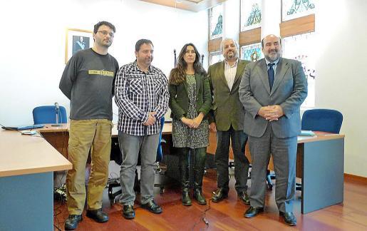 Rafel Valls, Bartomeu Gili, Margalida Vives, Nicolau Bordal y Víctor Valencia.