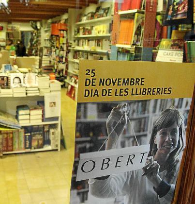 Cartel del Dia de les Llibreries de 2011, que fue el 25 noviembre.