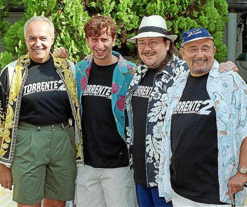 Tony Leblanc durante la promoción de 'Torrente 2'.